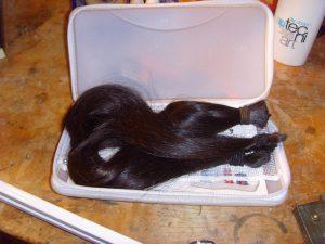 Haare in Box